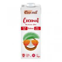 EcoMil - Lot de 3 laits de Coco sans sucre 1L
