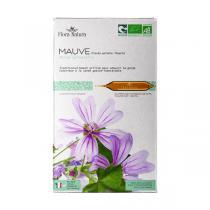Flora Natura - Mauve Plante entière fleurie bio - 20 ampoules