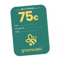 Greenweez.com - Chèque cadeau 75 Euros