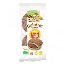 Grillon d'or - Galettes de maïs nappées au chocolat au lait bio - 95 g
