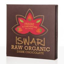 Iswari - Chocolat cru Fraise et Cardamome bio - 75 g