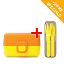 Monbento - Pack MB Tresor Banana et MB Pocket Color Jaune