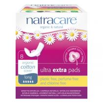 Natracare - Serviette Ultra Extra Long avec ailettes x8