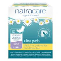 Natracare - Serviette Ultra Long avec ailettes x10