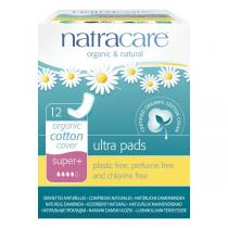 Natracare - Serviette Ultra Super Plus sans ailettes x12