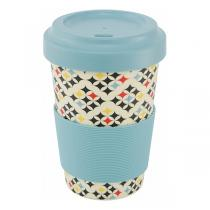Point virgule - Mug en fibre de bambou Carreaux 50cl