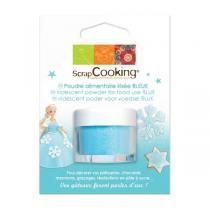 ScrapCooking - Poudre alimentaire irisée bleue - 5 g