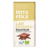 Terra Etica - Chocolat bio au lait 53% Equateur 100 g
