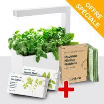 Tregren - Potager d'intérieur HERBIE Blanc + Kit graines et nutriments