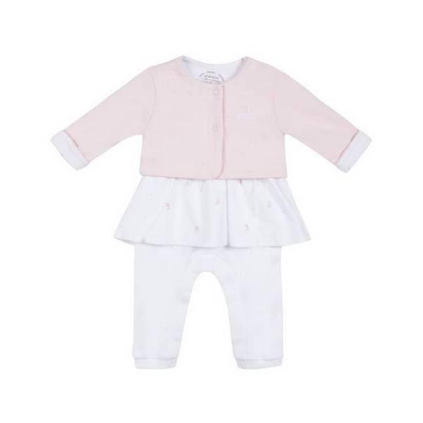 Absorba - Brassière + combi-robe interlock - Rose - 00 à 6 mois