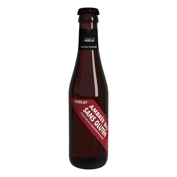 Brasserie de Vézelay - Bière de Vézelay ambrée sans gluten bio 25cl