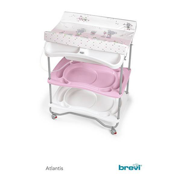 Brevi - Table à langer + baignoire Atlantis - Koko Rose
