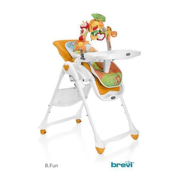 Chaise b fun 2 en 1 orange brevi la r f rence bien tre bio b b - Chaise haute et transat 2 en 1 ...