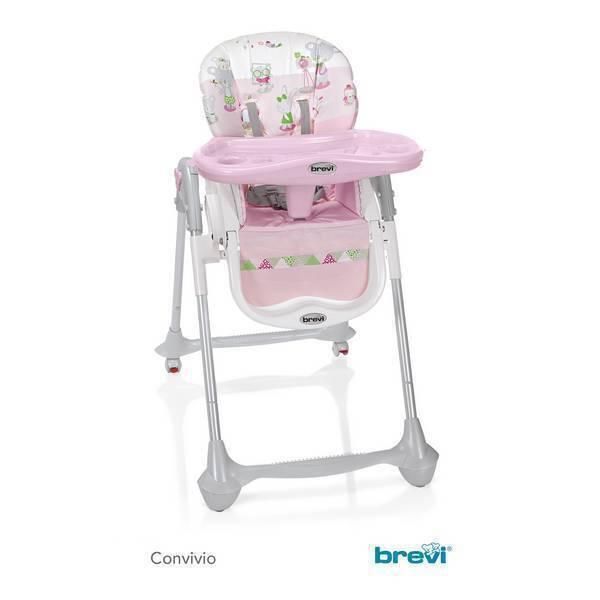 Brevi - Chaise haute Convivio -Koko rose