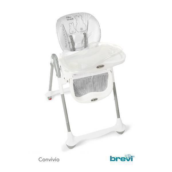 Brevi - Chaise haute Convivio - Grise