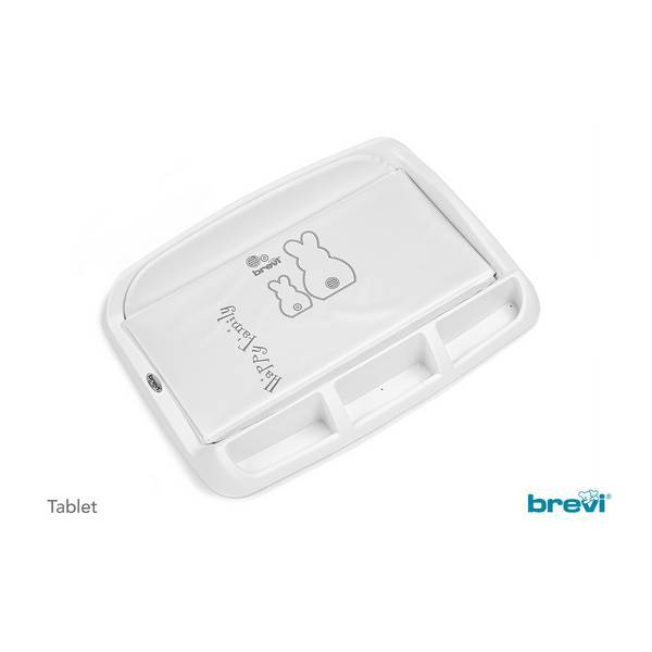 Brevi - Plan à langer Tablet - Lapinou perle