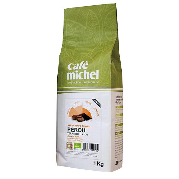 Café Michel - Café en grains Pérou Arabica 1kg