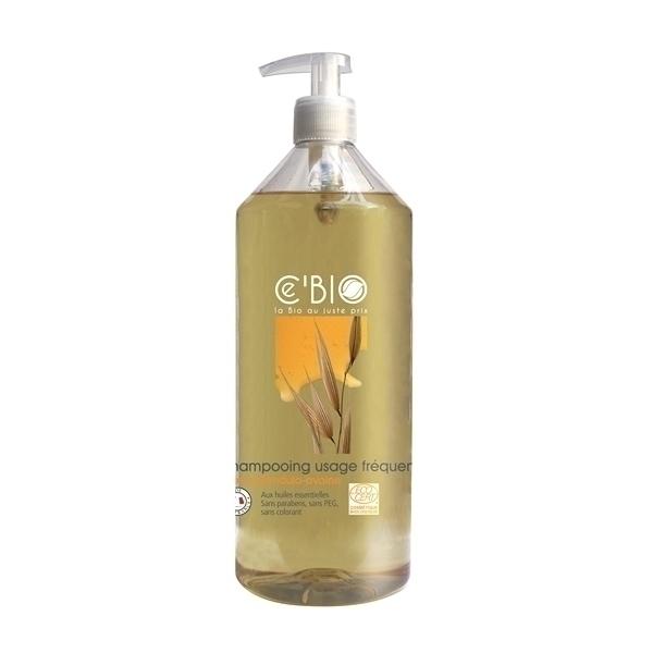 Ce'BIO - Lot de 2 shampooings usage fréquent Miel Calendula Avoine 1L