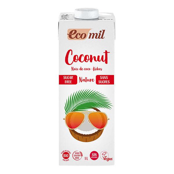 EcoMil - Lot de 3 boissons Coco sans sucre 1L