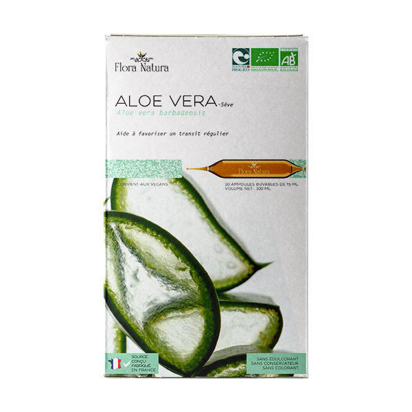 Flora Natura - Aloé Vera Sève bio - 20 ampoules