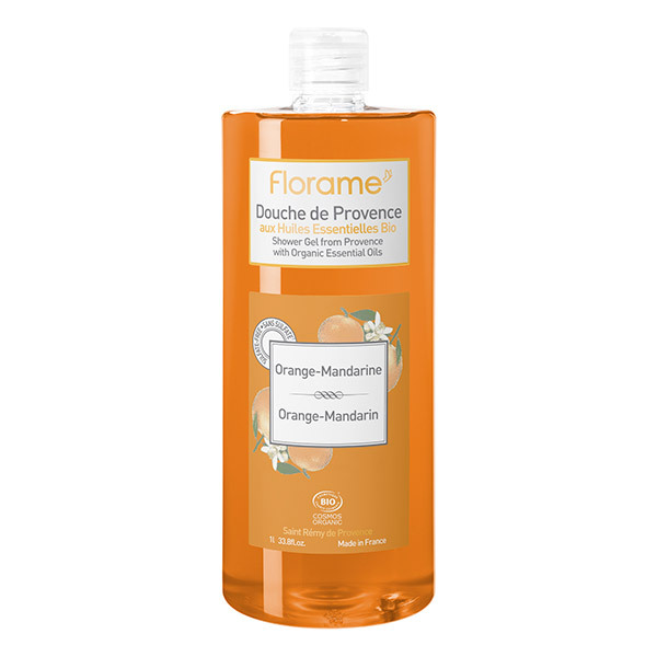 gel douche de provence orange mandarine bio 1 l florame acheter sur. Black Bedroom Furniture Sets. Home Design Ideas