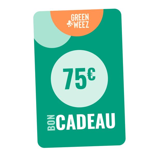 Greenweez Club - Chèque cadeau 75 Euros