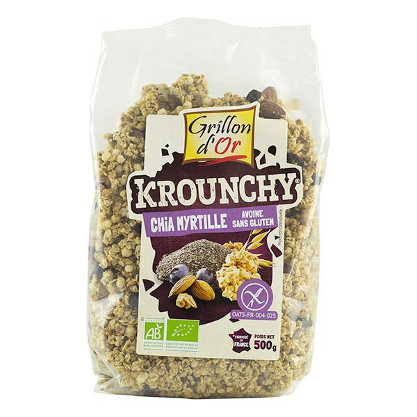 Grillon d'or - Krounchy chia myrtille avoine sans gluten bio - 500 g