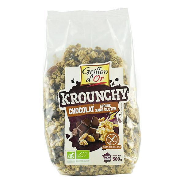 Grillon d'or - Krounchy chocolat avoine sans gluten bio - 500 g