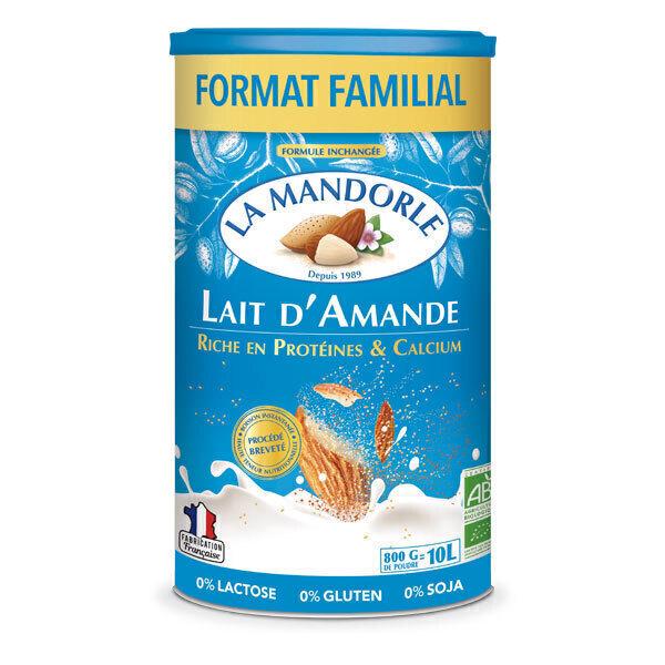 La Mandorle - Lot de 3 Laits d'amande Protéines et calcium 800g