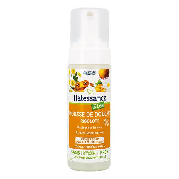 Natessance - Mousse de douche Rigolote Pêche-Abricot - 150 ml