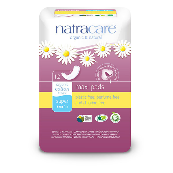 Natracare - Lot de 3 x Serviettes hygiéniques supers