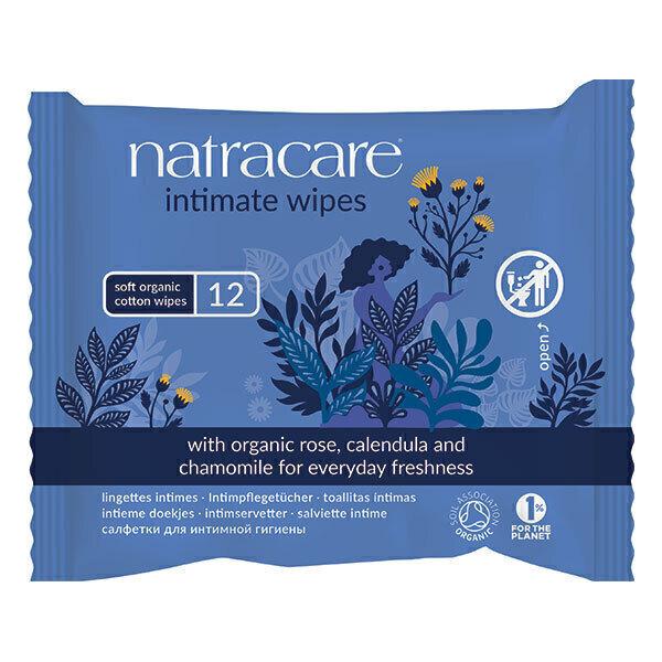 Natracare - Lot de 3 x 12 Lingettes intimes 100% Coton Bio