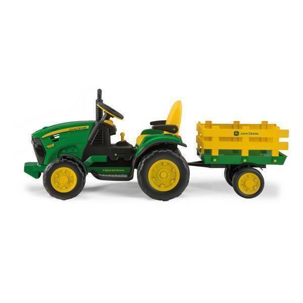 Peg Perego - John Deere Ground Force - Tracteur 12 volts + remorque - Dès 3a