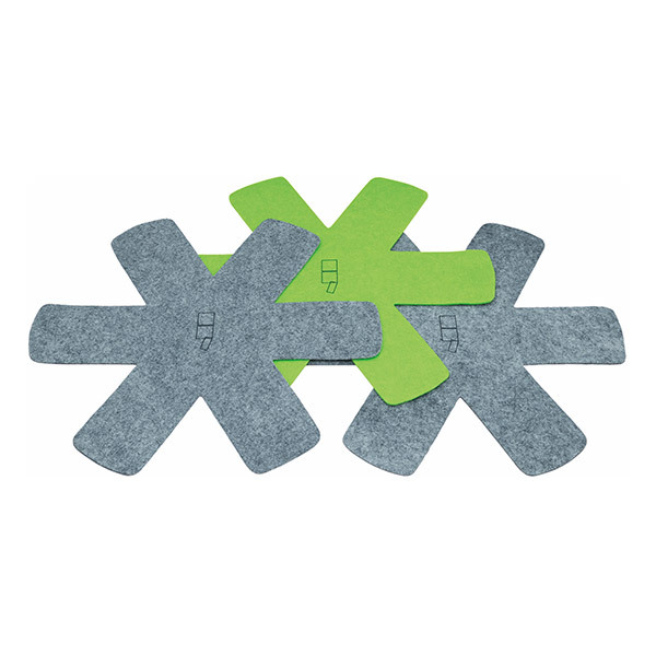 Point virgule - Lot de 3 feutrines de protection gris et vert