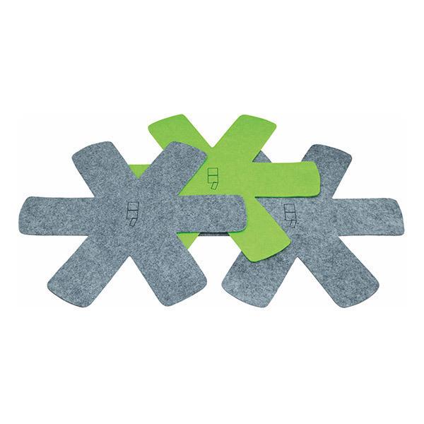 Point Virgule - Lot de 3 feutrines de protection gris et vert