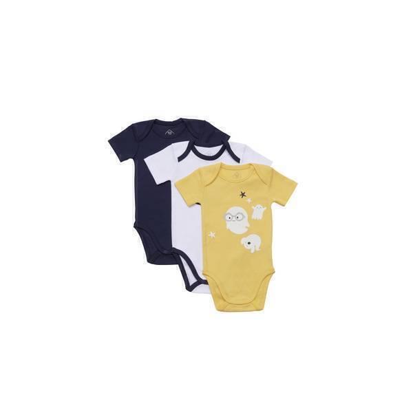 Tex Baby - 3 Bodies manches courtes - Jaune Fantôme - 3 à 36 mois