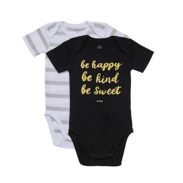 Tex Baby - 2 Bodies manches courtes - Wind Hashtag - 3 à 36 mois
