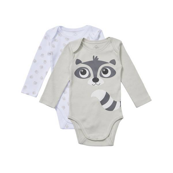 Tex Baby - 2 Bodies manches longues - col US - Taupe Racoon- 3 à 36 mois