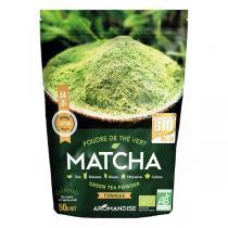 Aromandise - Lot de 2 x Poudre Thé Vert Bio Matcha 50 g
