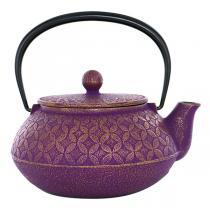 Aromandise - Théière fonte 7 trésors - violet et doré - 0,6 L