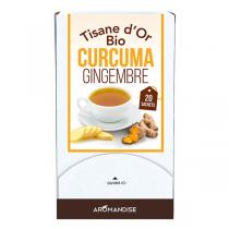 Aromandise - Tisane d'or curcuma gingembre - 20 x 1,5 g