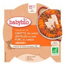 Babybio - Assiette Carotte, Lentilles, Porc bio - 260 g