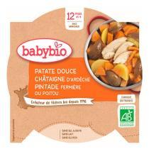 Babybio - Assiette Patate douce, châtaigne et pintade fermière bio - 230 g