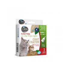 Biovetol - Etui de 3 pipettes antiparasitaires chaton et chat 1ml