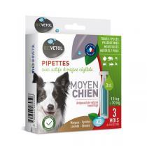 Biovetol - Etui de 3 Pipettes antiparasitaires chien moyen 3ml