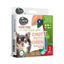 Biovetol - Etui de 3 pipettes antiparasitaires chiot et petit chien 1,5ml