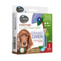 Biovetol - Etui de 3 Pipettes antiparasitaires grand chien 5ml