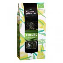 Gourmet Spiruline - Crackers crus bio Spiruline, Olives, Romarin - 110 g