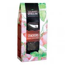 Gourmet Spiruline - Crackers crus bio Spiruline, Tomate, Basilic - 110 g