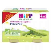 HiPP - Petits pots Petits pois bio 4-6 mois - 2 x 125 g